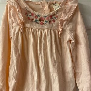 3T long sleeve shirt; wrinkled from storage - NWOT